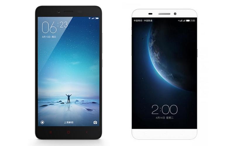 Xiaomi Redmi Note 2 Prime i LeTV One - przód / fot. producent