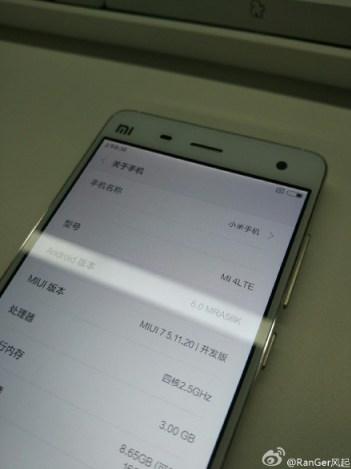 Marshmallow na Xiaomi Mi 4