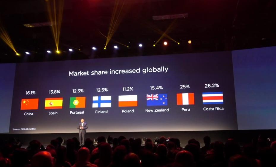 Sprzedaż urządzeń Huawei / fot. Youtube, Huawei Press Conference (livesream Max Lee)
