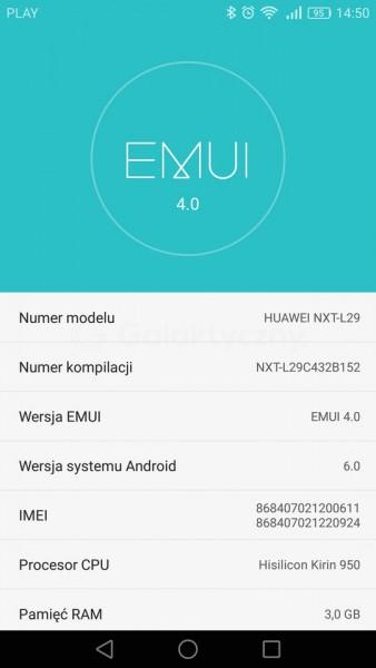 Aktualizacja Huawei Mate 8