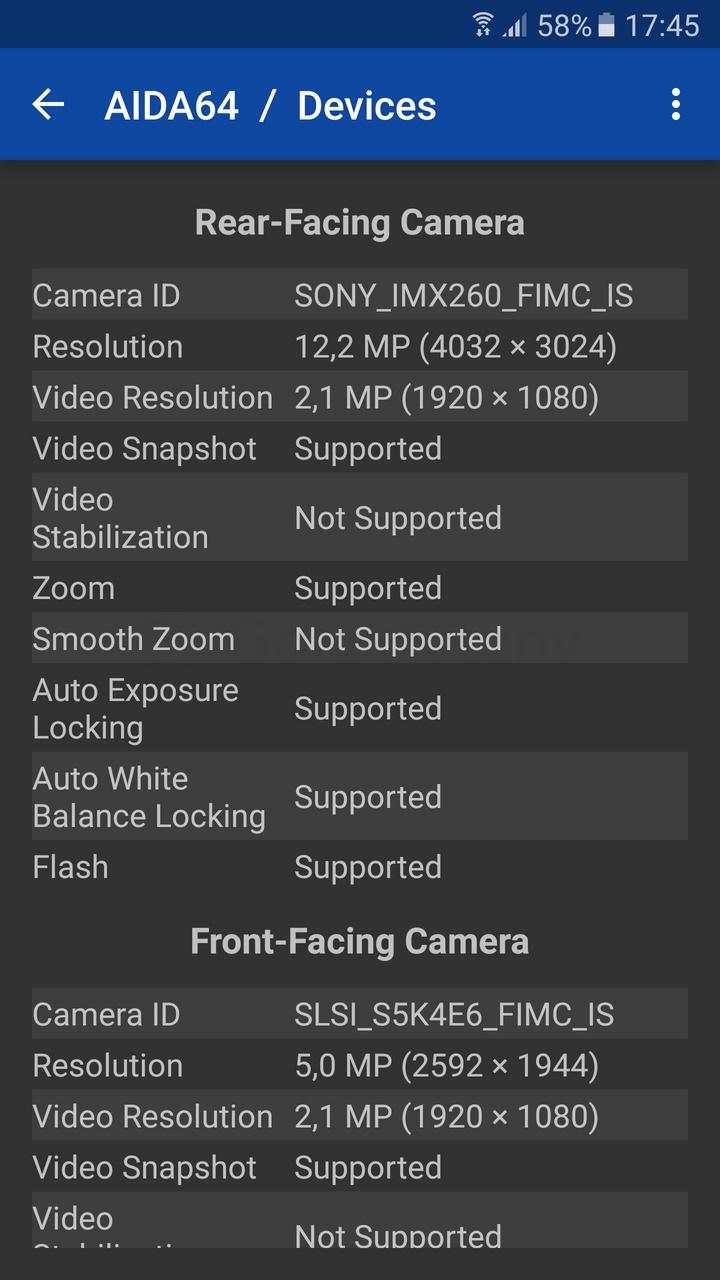 Galaxy S7 - sensor Sony IMX260 / fot. galaktyczny