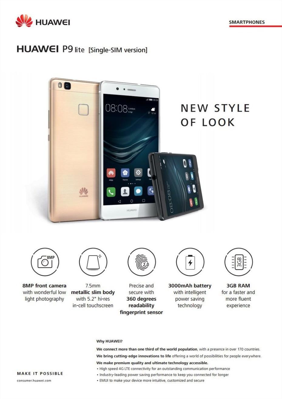 Huawei P9 Lite / fot. dkionline