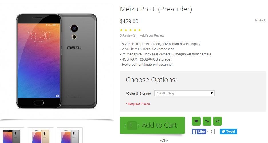 Meizu Pro 6 / fot. OppoMart