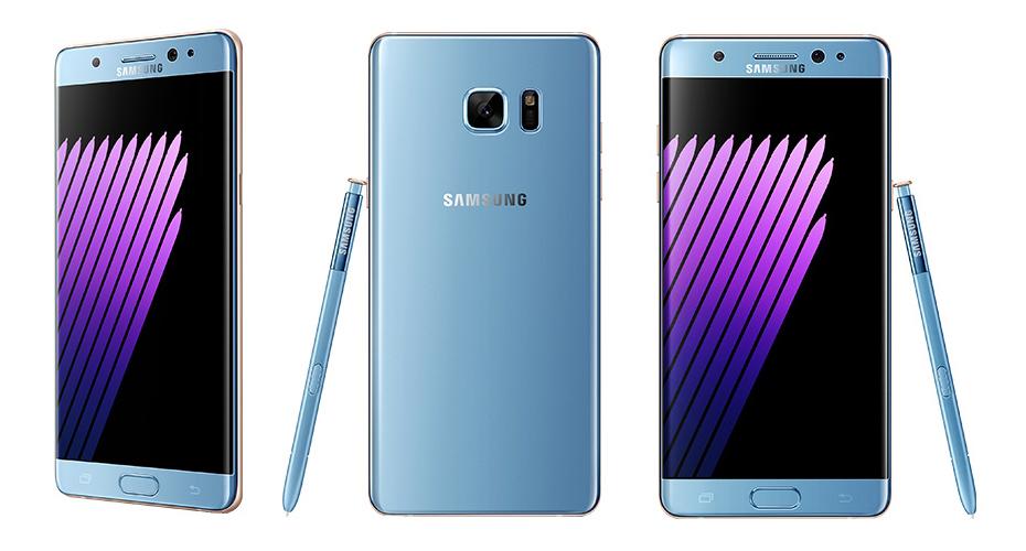 Samsung Galaxy Note 7 - błękitny / fot. Seeko