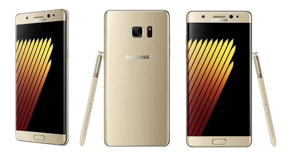 Samsung Galaxy Note 7 - złoty