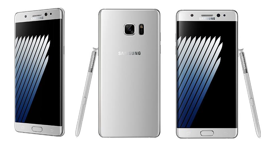 Samsung Galaxy Note 7 - srebrny (biały)