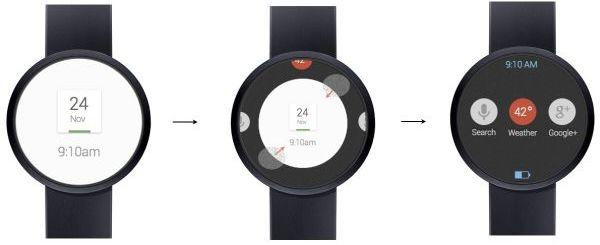 Koncepcyjna grafika smartwatcha Google