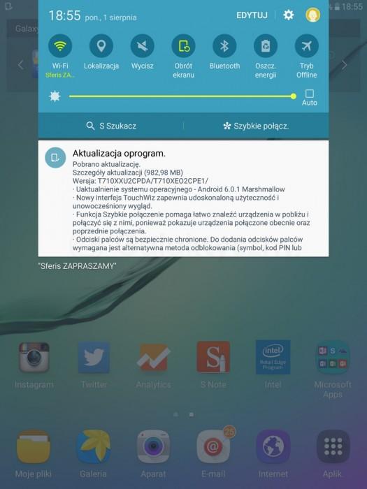 Marshmallow dla Samsunga Galaxy Tab S2 8.0 Wi-Fi / fot. galaktyczny