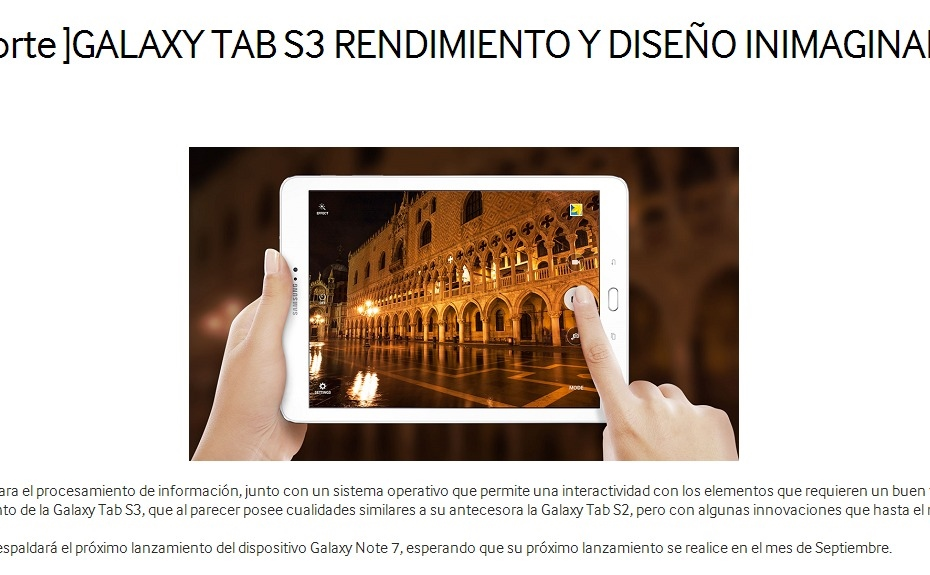 Galaxy Tab S3 / fot. Samsung