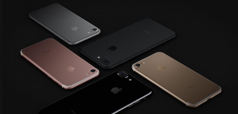 Wszystkie dostępne kolory iPhone'a 7