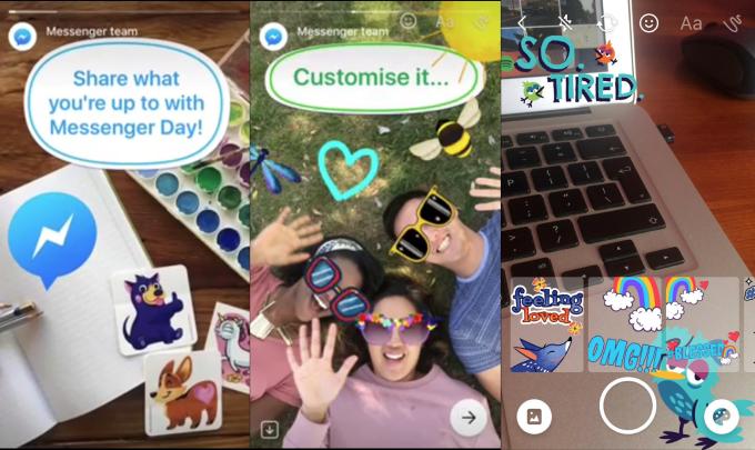 Messenger Day i przykładowe filtry