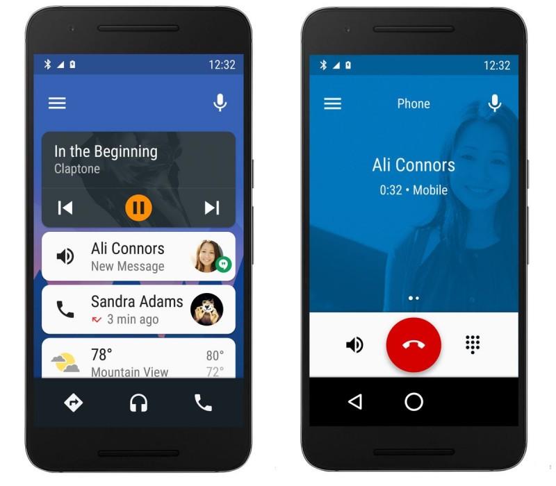 Wizualizacja Android Auto na smartfonie