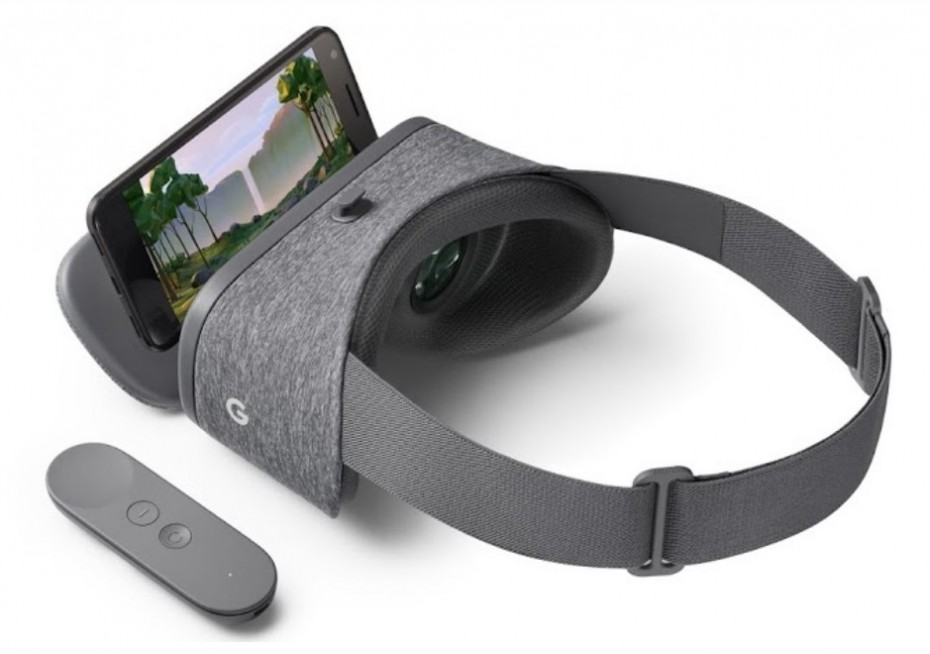 Google Daydream View wraz z kontrolerem i smartfonem