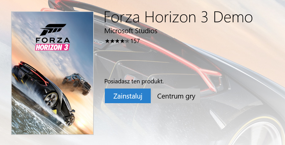 Forza Horizon 3 demo / fot. Microsoft