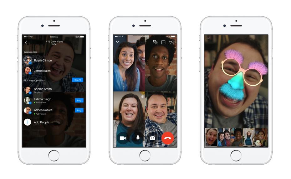 Grupowe rozmowy wideo w Messenger