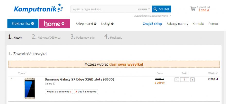 Galaxy S7 edge w Komputronik