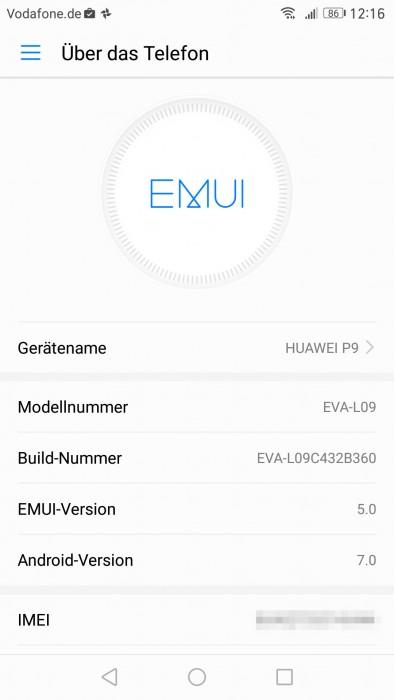 Nougat dla Huawei P9 / fot. giga.de