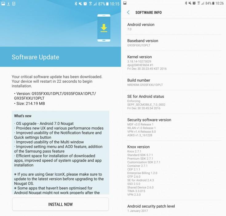 Nougat dla Galaxy S7