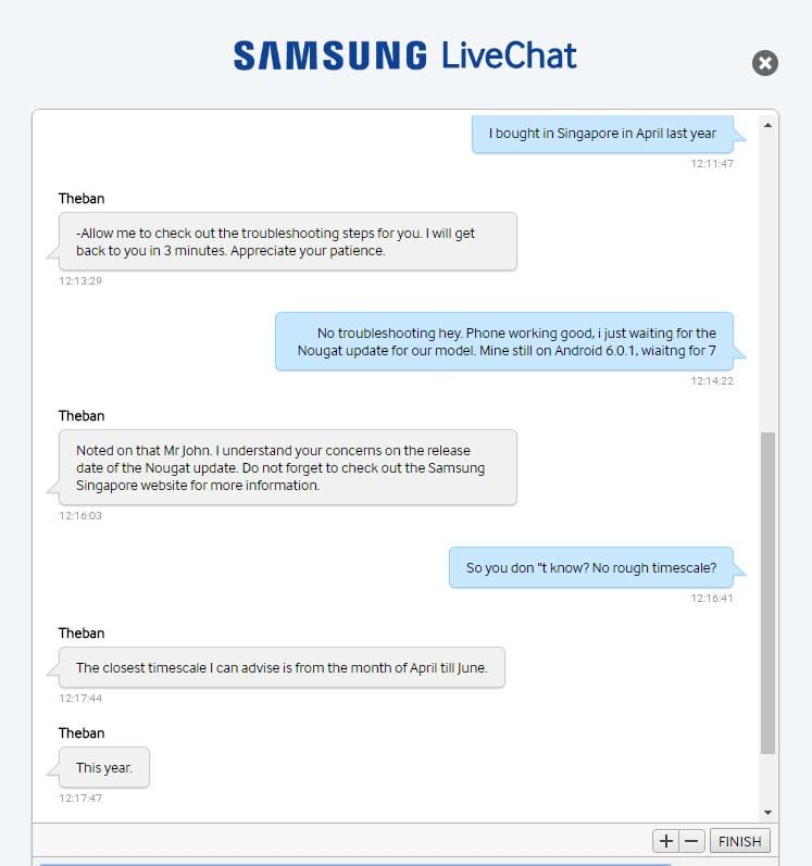 Nougat dla Galaxy S7 edge