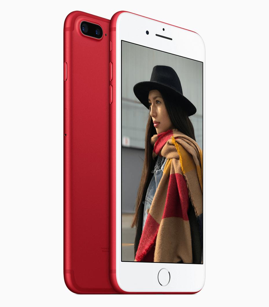 Czerwony Apple iPhone 7 Plus