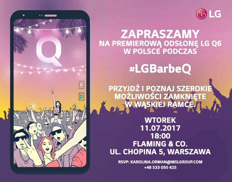 Zaproszenie na premierę LG Q6