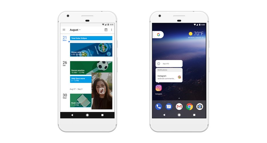 Picture-in-Picture i Notification Dots w Android 8.0 Oreo / fot. Google
