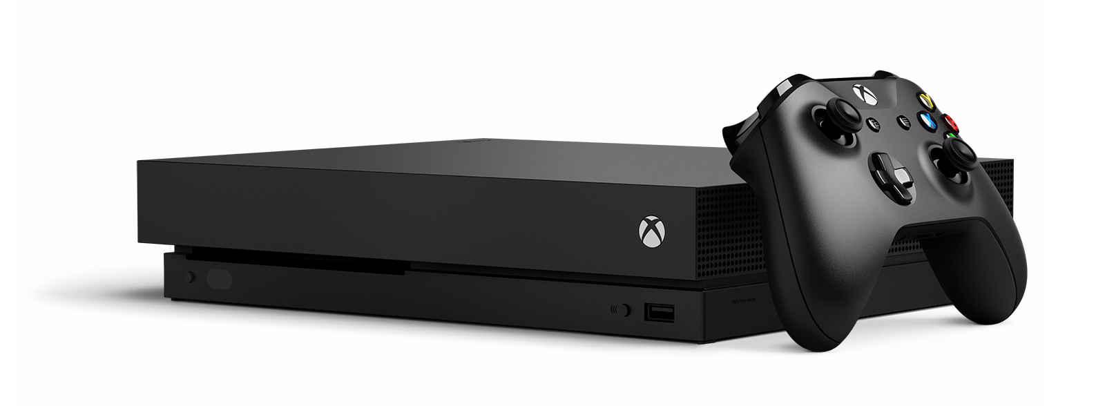 Xbox One X z kontrolerem