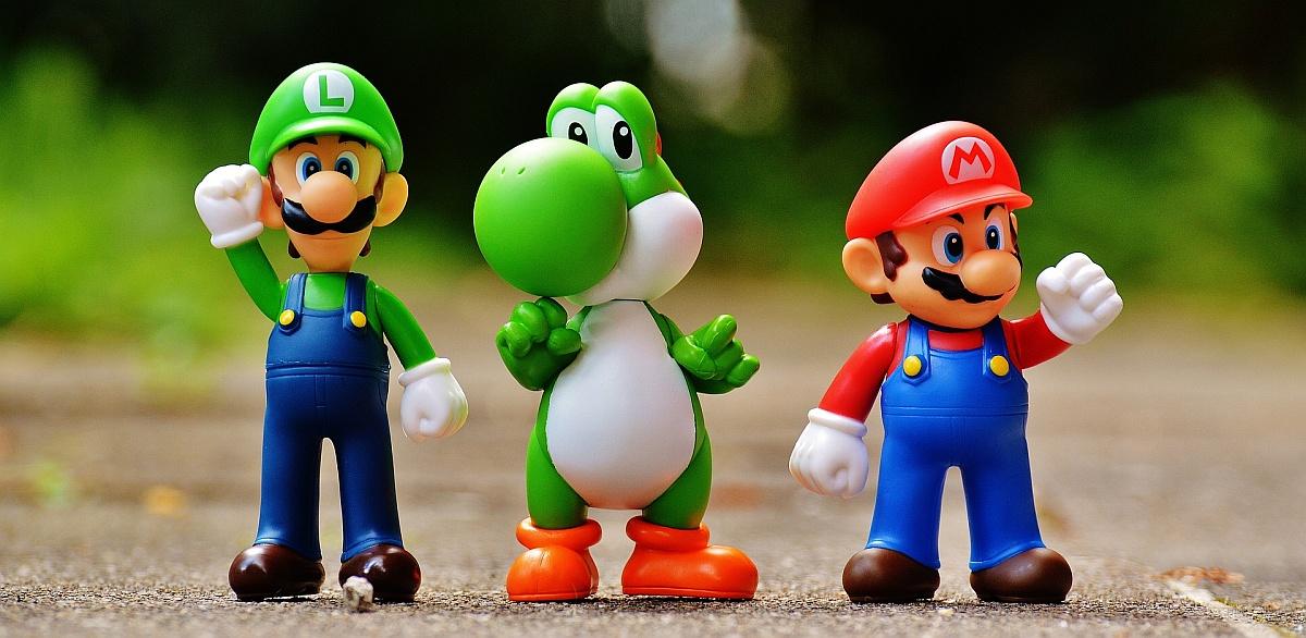 Luigi, Yoschi i Mario / fot. Pixabay