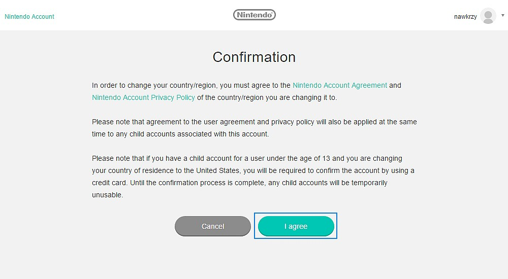 Nintendo - potwierdzenie zmiany regionu
