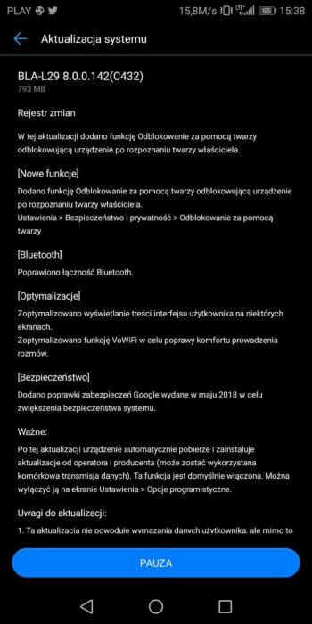 Huawei Mate 10 Pro - odblokowanie twarzą