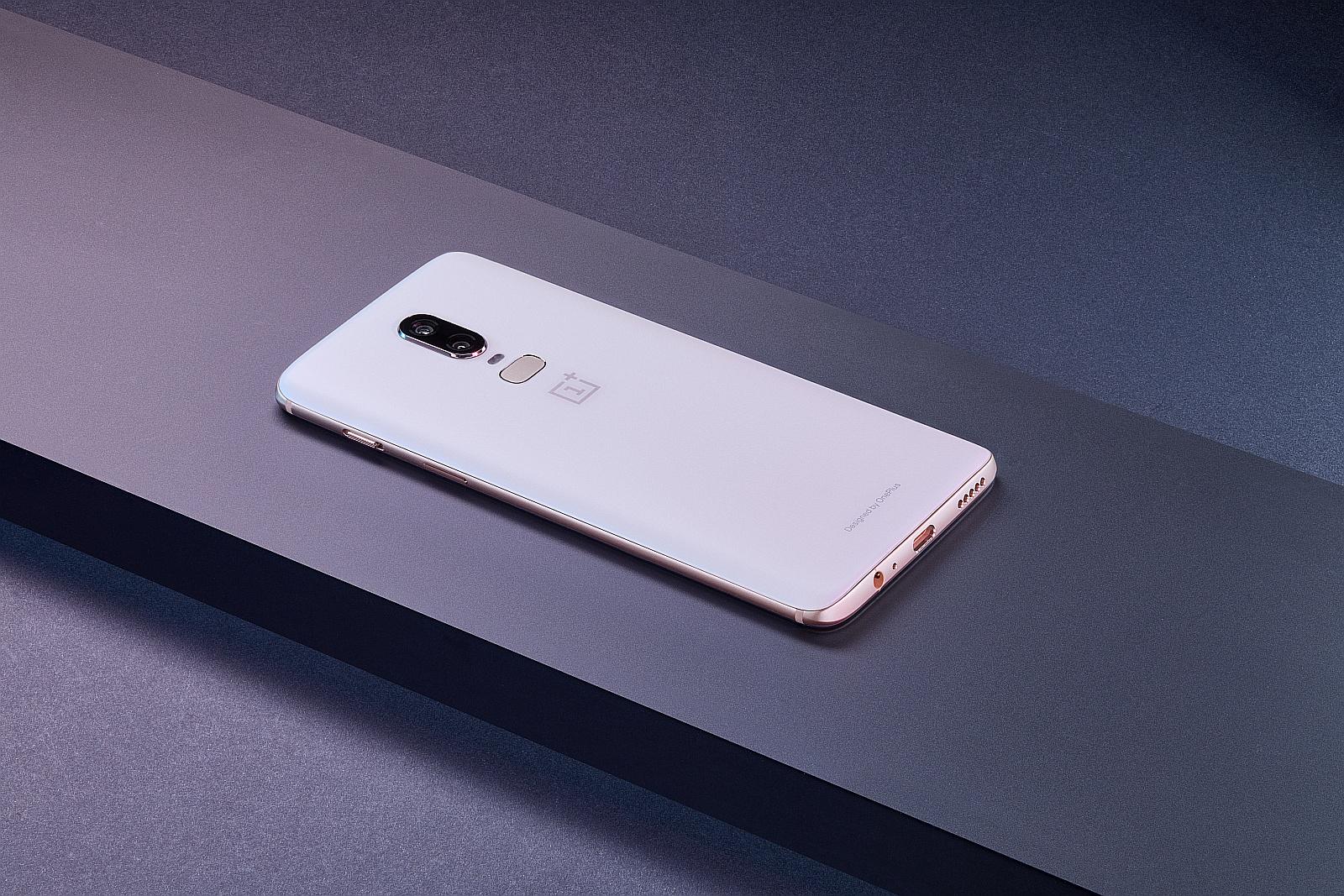 Biały OnePlus 6 - Silk White