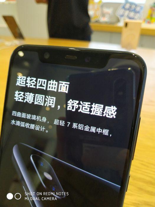 Xiaomi Mi 8 - notch