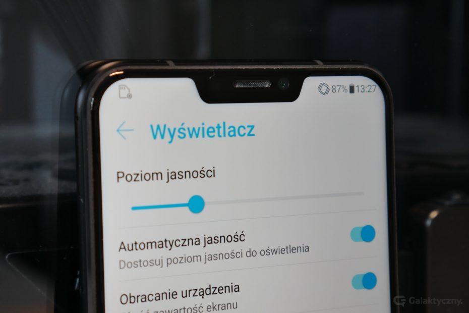 Asus Zenfone 5 - notch widoczny
