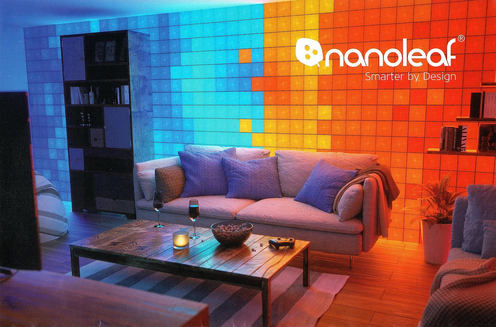 Nanoleaf Canvas na ścianie