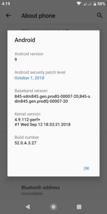Android Pie dla Sony Xperia XZ2