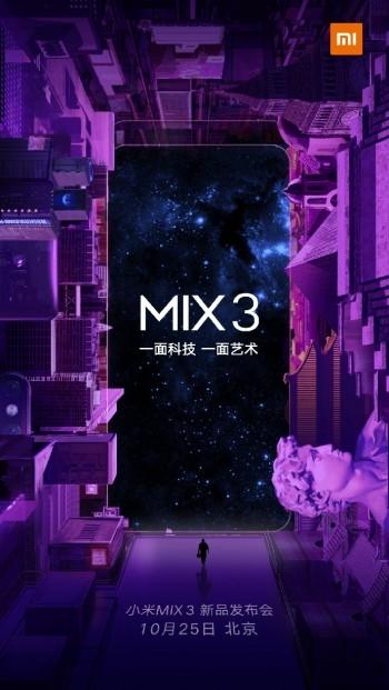 Data premiery Xiaomi Mi MIX 3