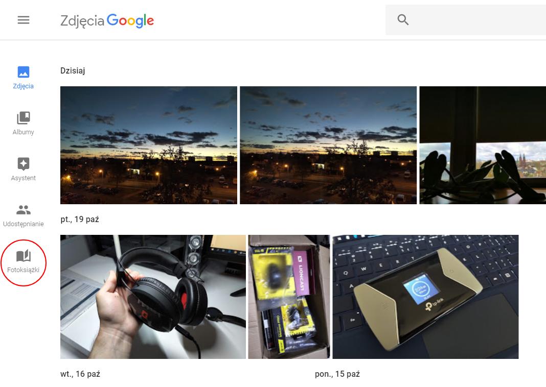 Fotoksiążka Google