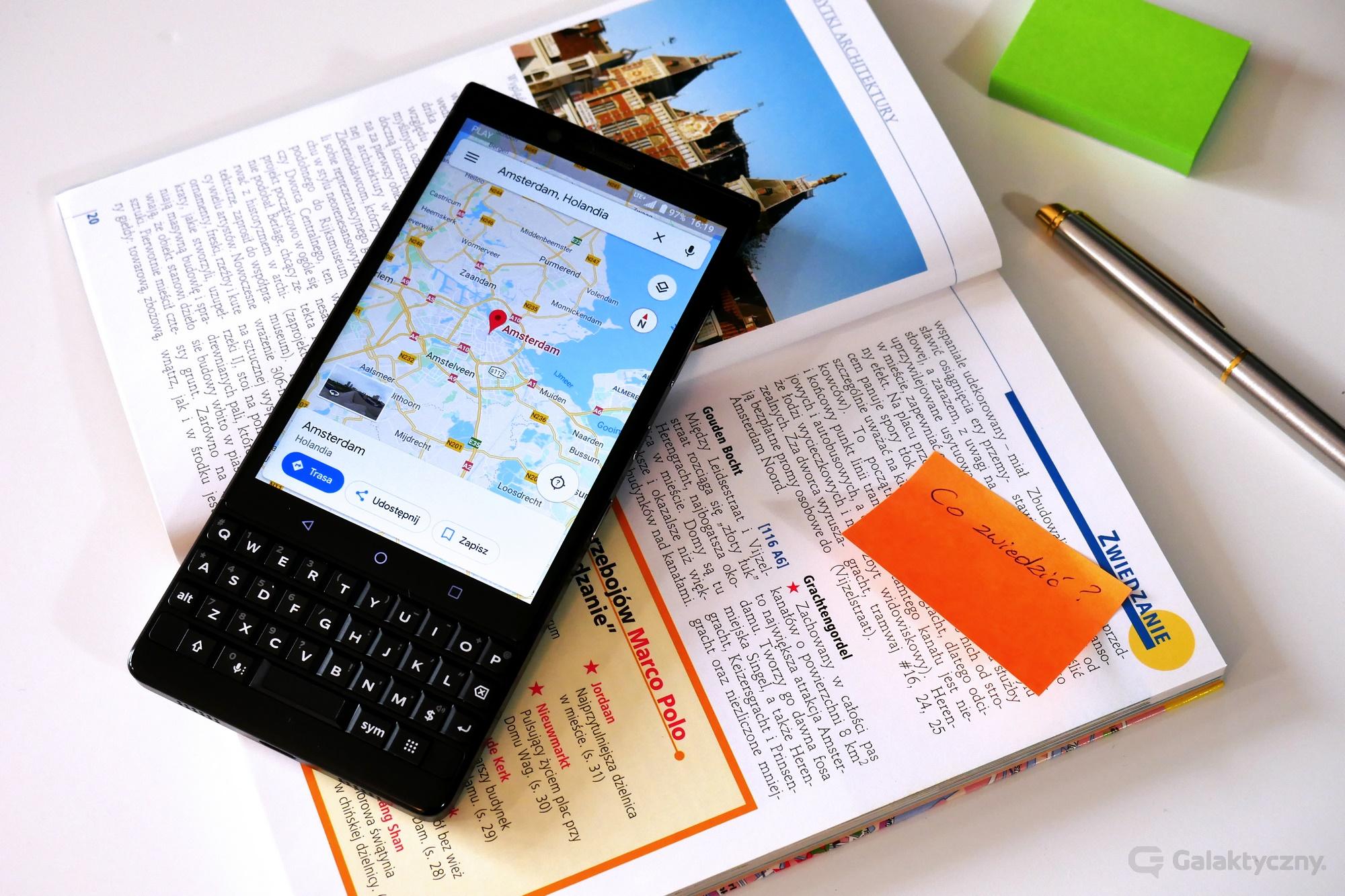 Wyświetlacz w BlackBerry KEY2