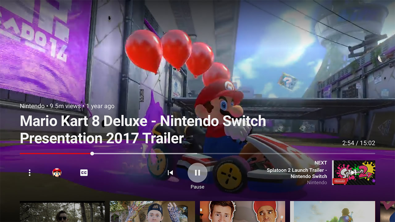 YouTube na Nintendo Switch