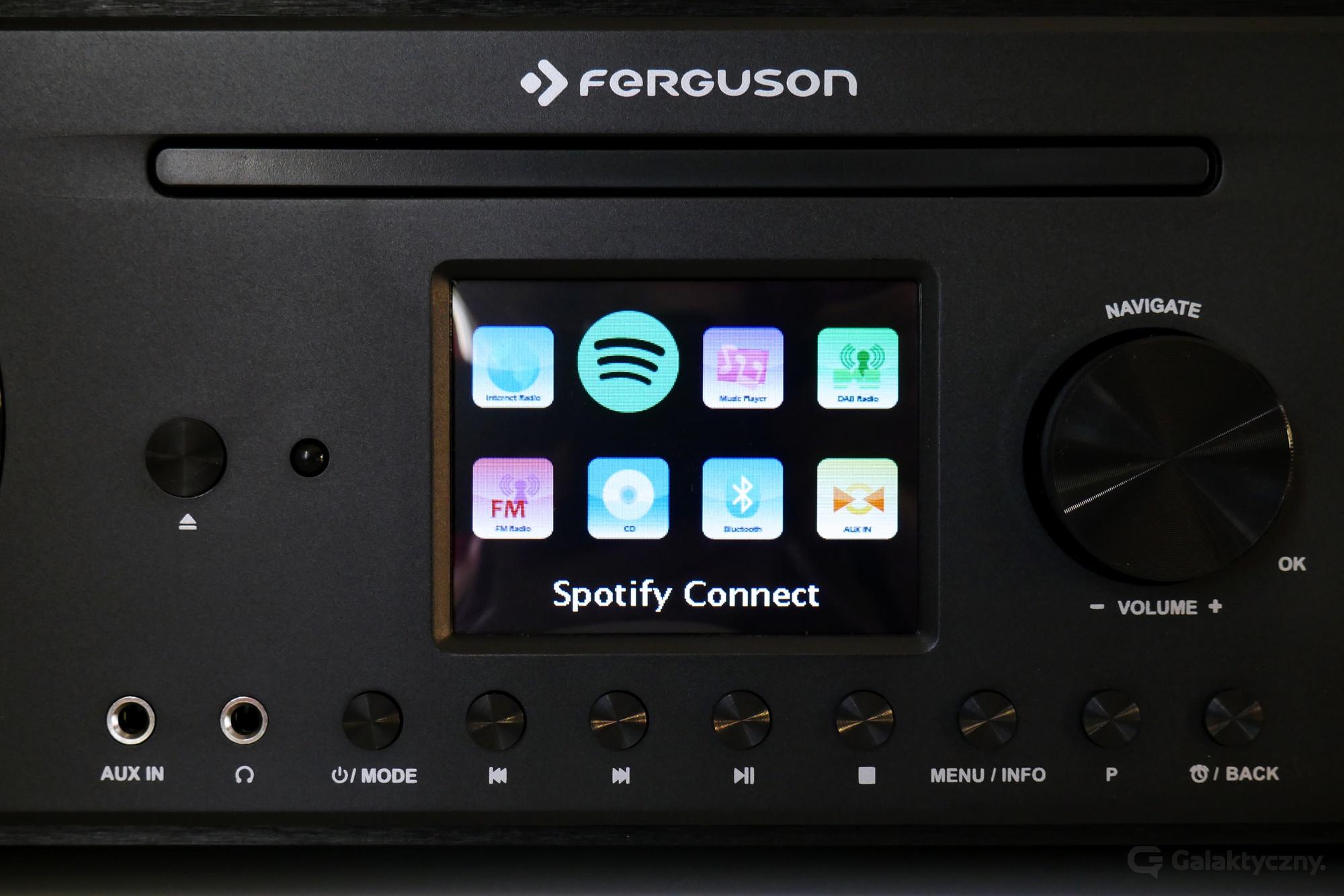 Ferguson i400s - menu główne