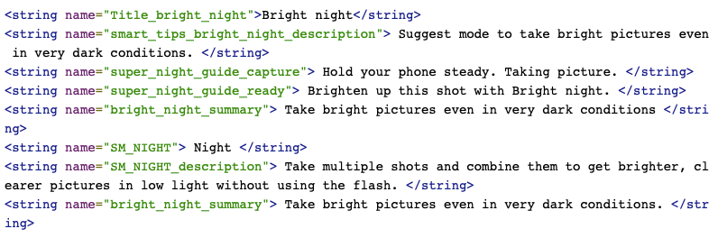 Samsung tryb nocny Bright Night