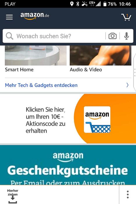 10 euro zniżki w aplikacji Amazon