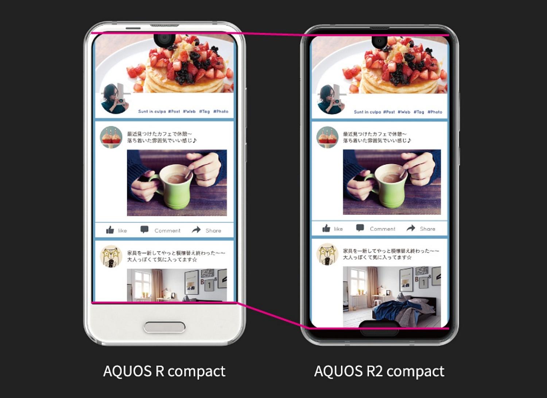 Sharp AQUOS R compact i R2 compact