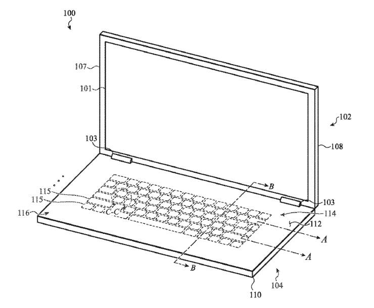 Szklana klawiatura w Macbooku