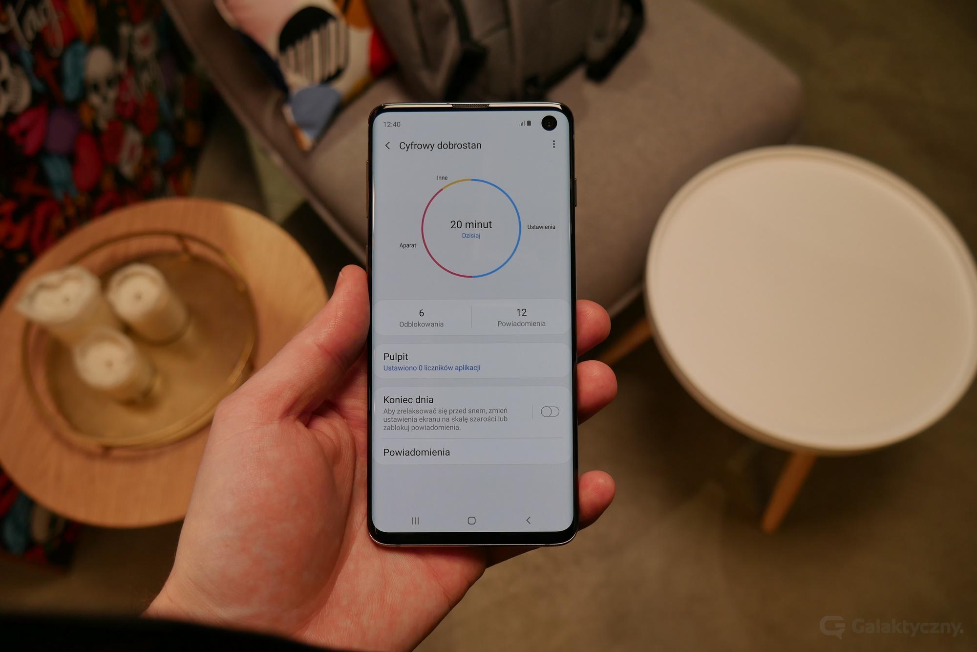 Samsung Galaxy S10 - Cyfrowy dobrostan