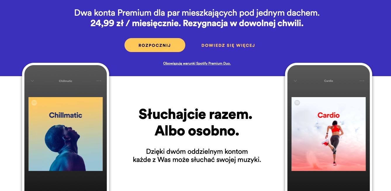 Spotify Premium dla par