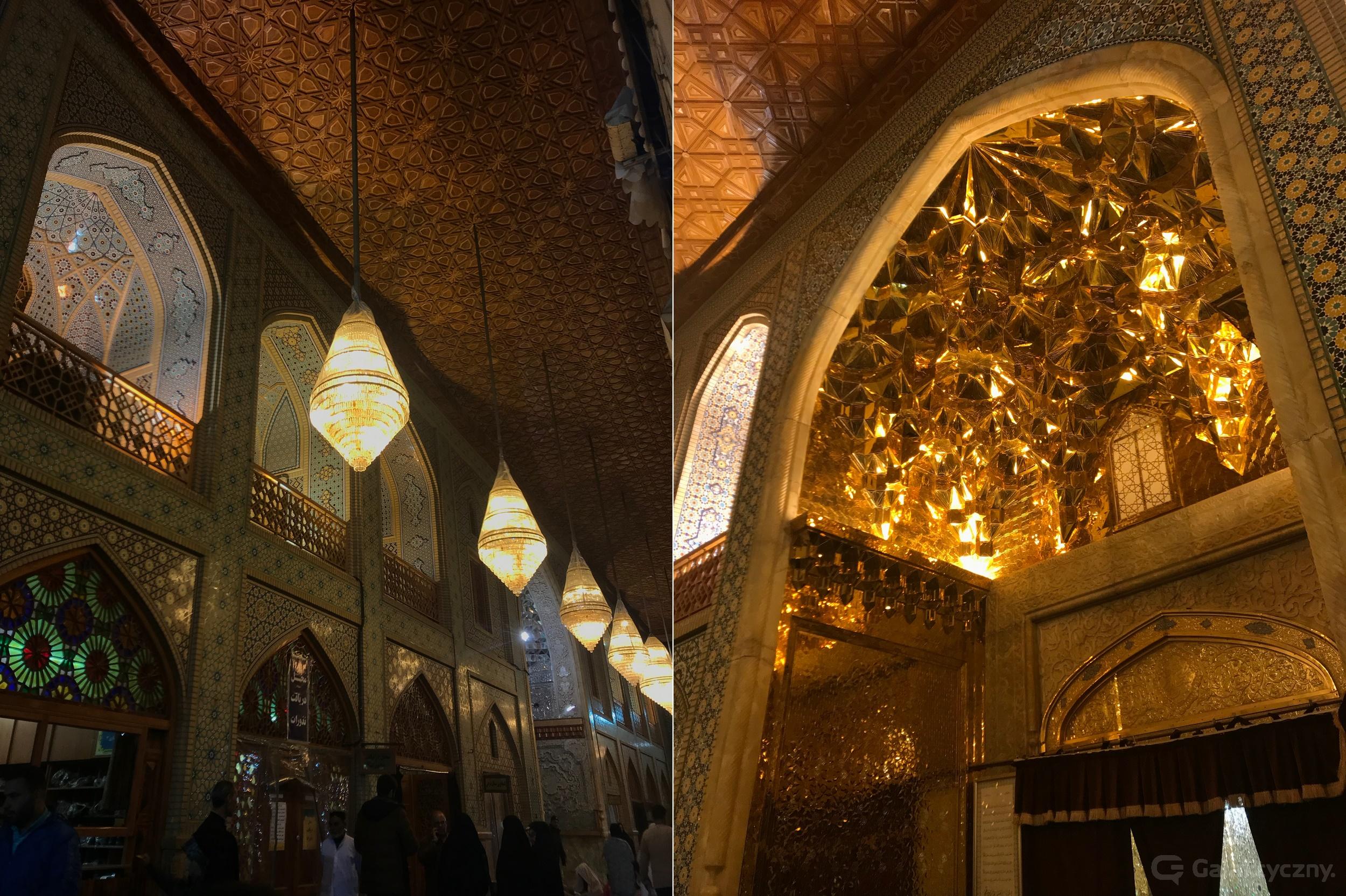 W meczecie nie brakuje także złota.