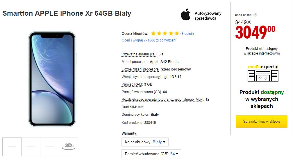 iPhone XR w promocji