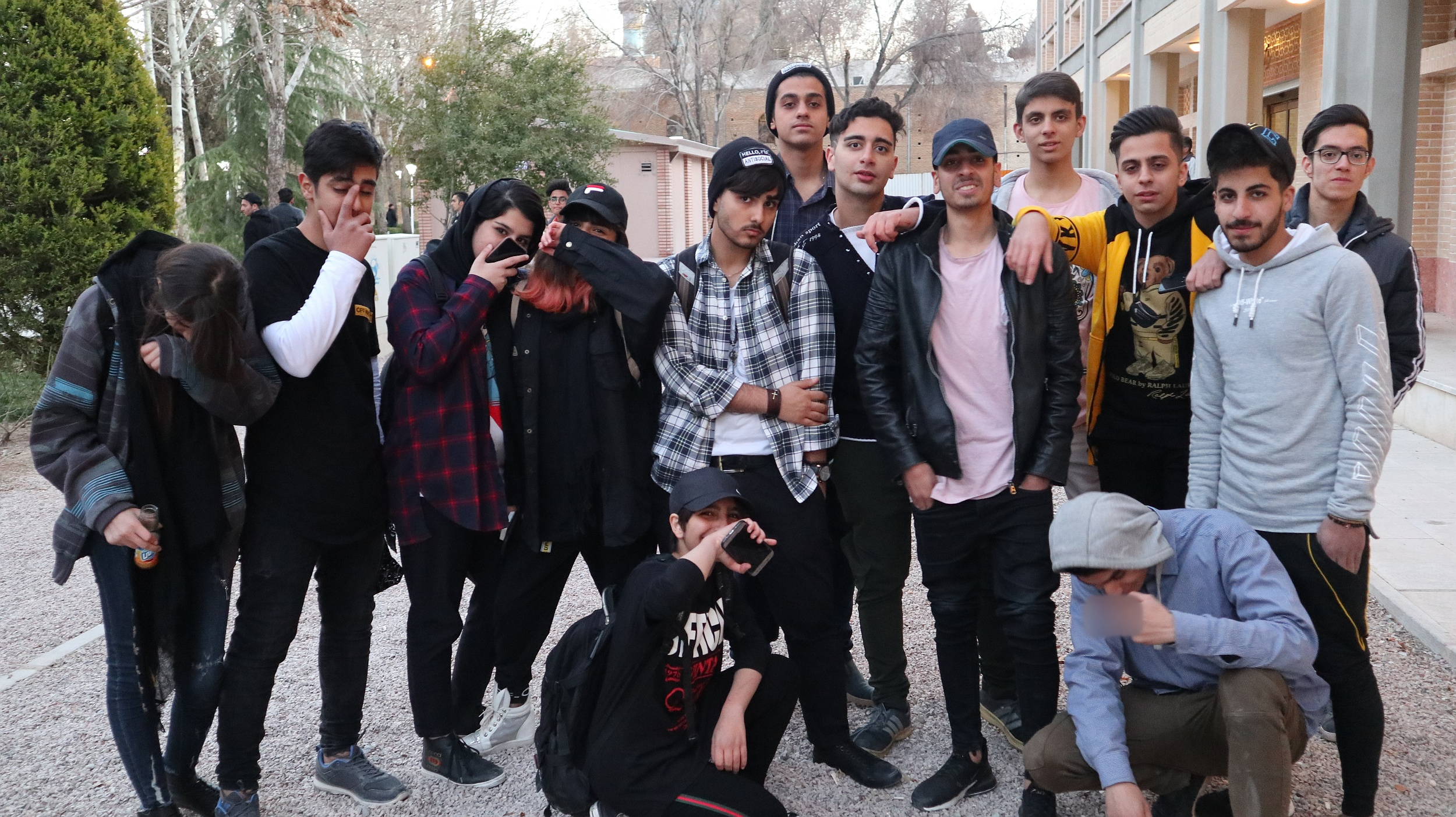 Ekipa z Isfahanu, która zaczepiła mnie do zdjęcia