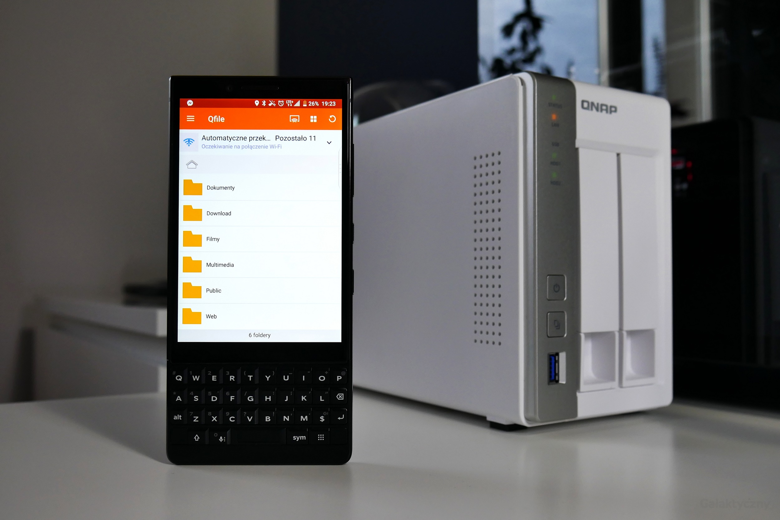 QNAP TS-231P2 - Qfile na BlackBerry KEY2